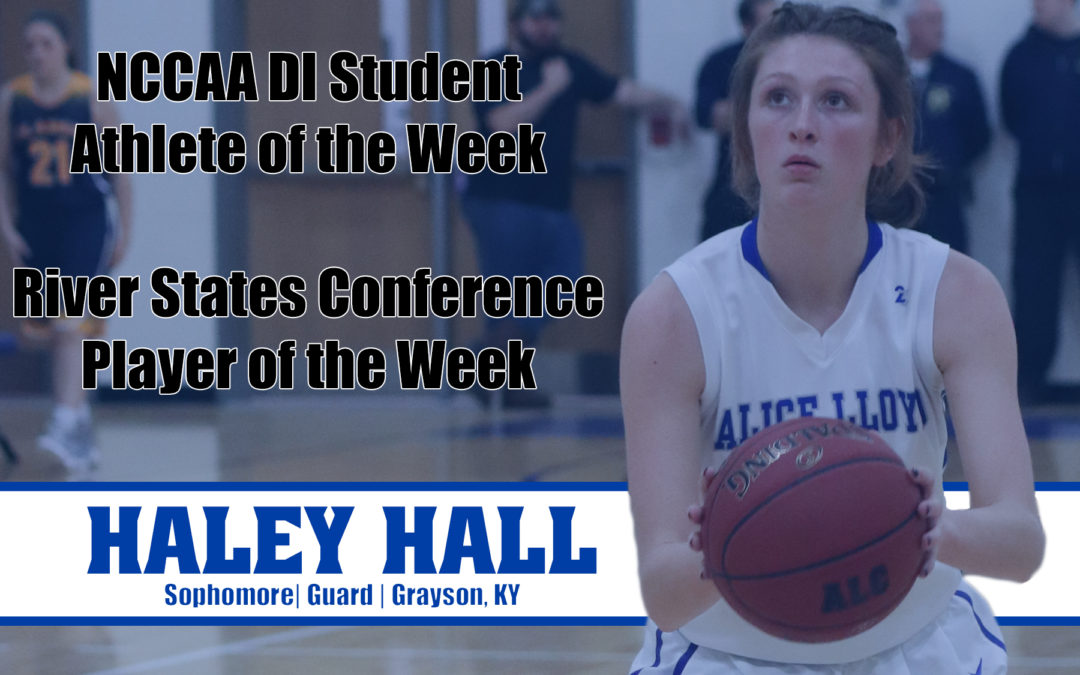 ALC's Hall Named Athlete of the Week by RSC and NCCAA
