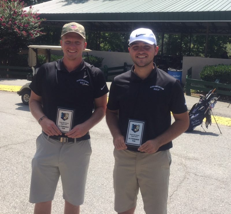Eagles Golfers Aaron Minor and Reece Ison were named to the All-Tournament Team