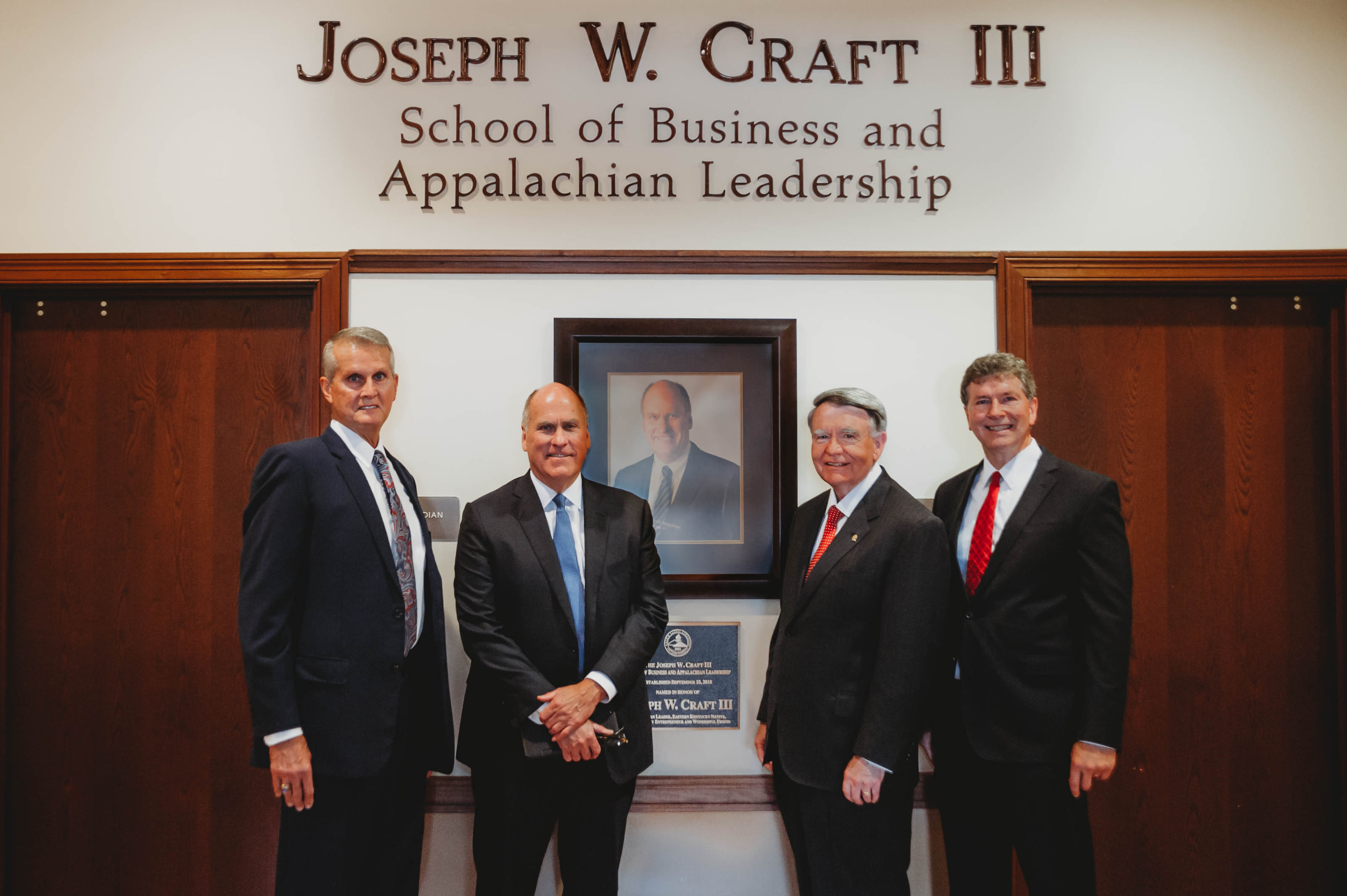 President Joe Stepp, Mr. Joe Craft, Mr. Robert M. Duncan, and Dr. Jim Stepp