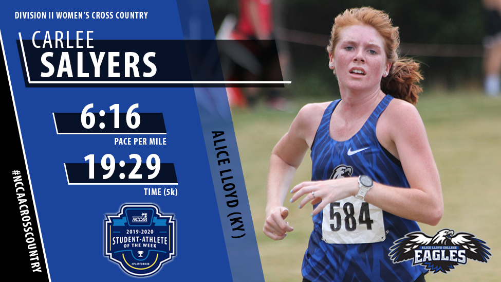 ALC's Carlee Salyers Named NCCAA Women's DII Cross Country Student-Athlete of the Week for Second Time