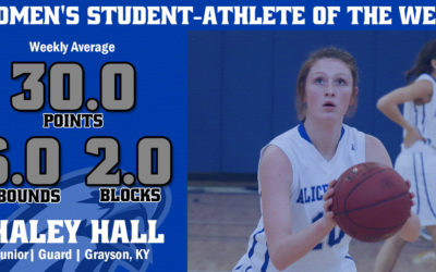 Women's Student-Athlete of the Week: Haley Hall